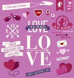 valentinesday messages vector image
