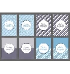 a set invitations vector image