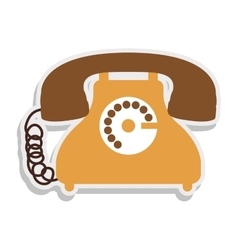 antique phone design with cord vector image