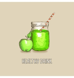 apple healthy drink vector image