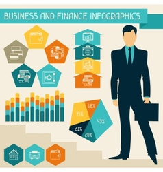Business and finance infographics vector image vector image