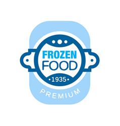 frozen food premium since 1935 abstract label for vector image