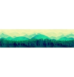 Low poly mountains landscape background vector image vector image