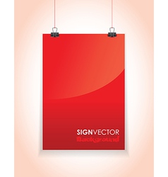 red paper sign vector image vector image
