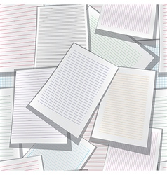 Seamless paper web site business organizer vector image vector image