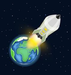 space rocket launch startup creative idea vector image