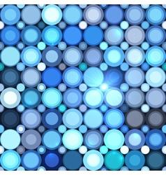 Blue abstract shining dots seamless pattern vector image vector image