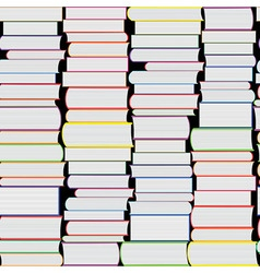 Books seamless texture vertically vector image
