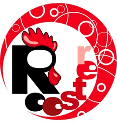 Chinese horoscope year of the rooster vector image vector image