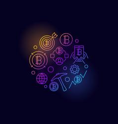colorful cryptocurrency circular symbol vector image vector image