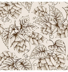 Hops graphic pattern vector image vector image