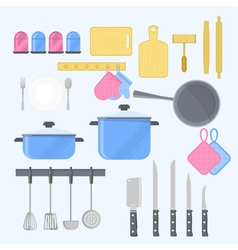 KItchen tools with kitchenware equipment vector image
