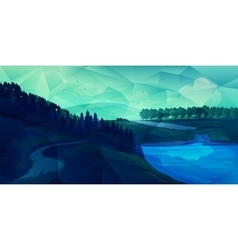 Low poly landscape vector image