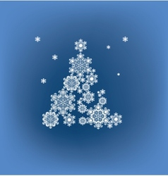 stylized silhouette Christmas tree formed vector image
