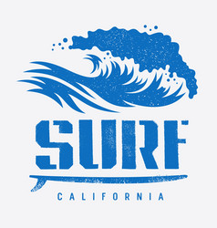 surfing print 007 vector image vector image