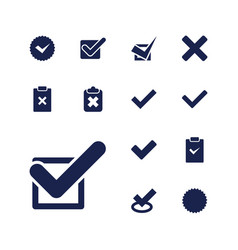 13 correct icons vector