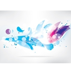 Abstract background with colored elements vector image