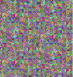 Abstract colorful triangle mosaic background vector