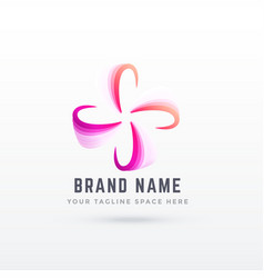 Abstract logo design in flower style vector