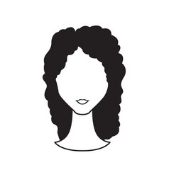 abstract woman avatar vector image vector image