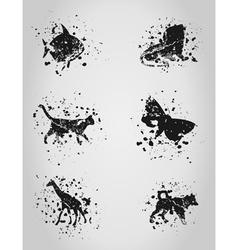Animal a blot vector image vector image