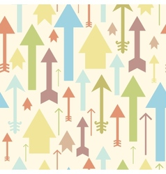 Arrows pointing up seamless pattern background vector image