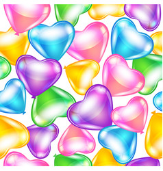 Balloons in shape of heart vector