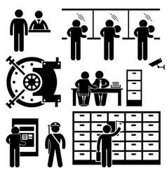 Bank business finance worker staff agent vector