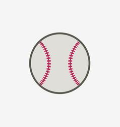 Baseball ball icon sport equipment vector