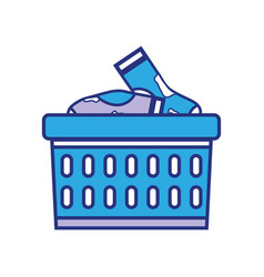 Basket design with dirty clothes inside vector
