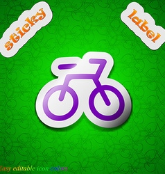 Bicycle icon sign Symbol chic colored sticky label vector