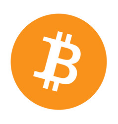 bitcoin logo on white background vector image