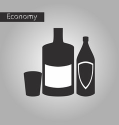 Black and white style icon alcohol bottles vector