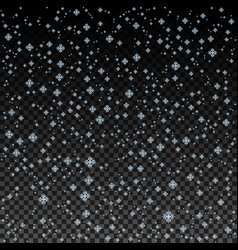 blue snowflake background christmas snow vector image