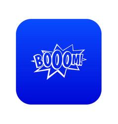 boom explosion bubble icon digital blue vector image