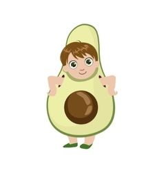Boy Dressed As Avocado vector