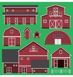 Buildings set with farm vector