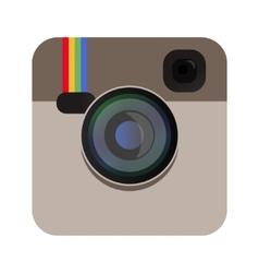 Camera icon beige color vector