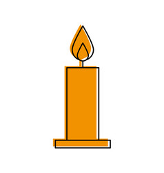 candle christmas isolated icon vector image