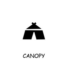 Canopy tent flat icon vector