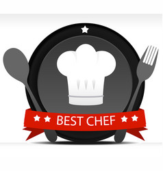 chef badge vector image
