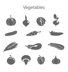 Color set of vegetables vector
