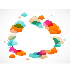 colorful clouds - abstract background vector image
