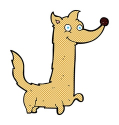 comic cartoon happy dog vector image