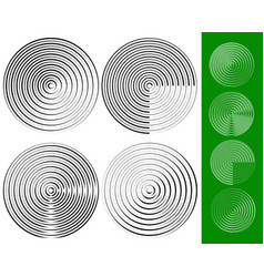 concentric circles rings geometric element set of vector image
