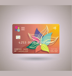 Credit card design with shadow detailed abstract vector