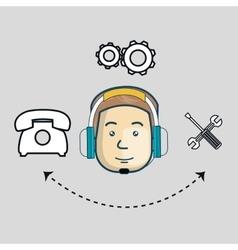 customer call center design vector image