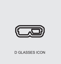 D glasses icon vector