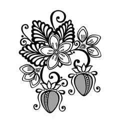 Decorative Strawberry Bush vector