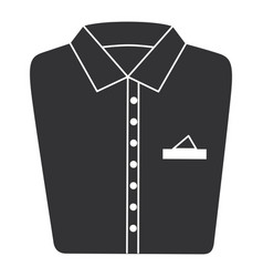 Folded shirt isolated icon vector